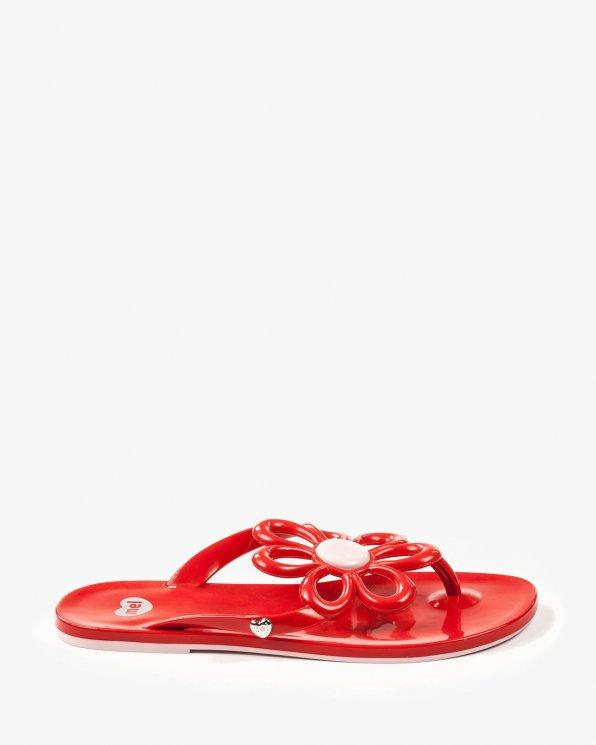 Czerwone klapki damskie MEL/32142/50962/RED