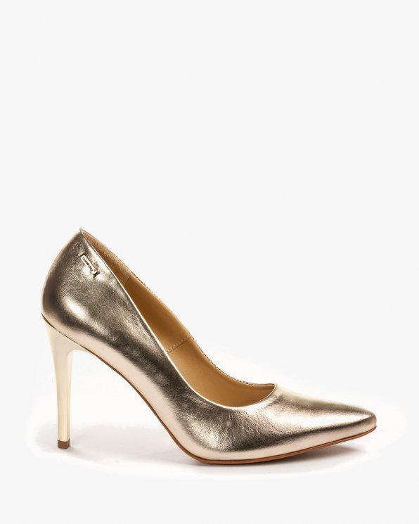 Czółenka złote damskie skórzane 2265/D37