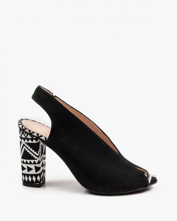 Czarne sandały damskie skórzane 2722/147/E67