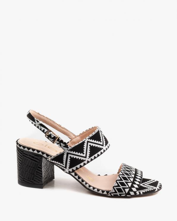 Czarne sandały damskie skórzane 2754/E67