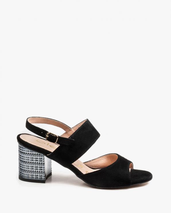 Czarne sandały damskie skórzane 2741/147