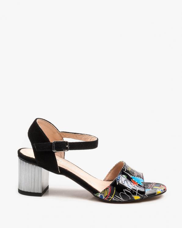 Czarne sandały damskie skórzane 2736/D68/147