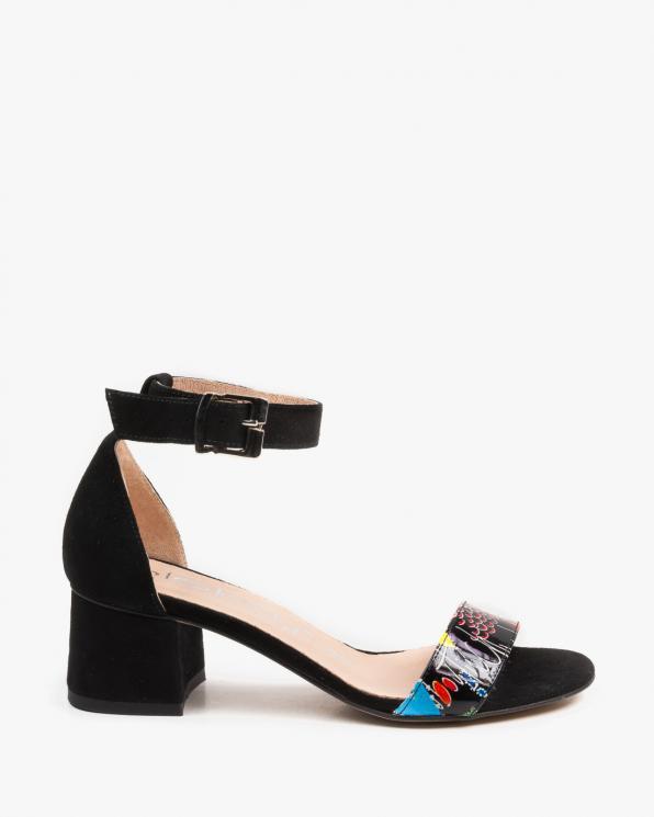 Czarne sandały damskie skórzane 2148/D68/147