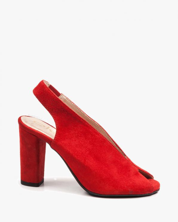 Czerwone sandały damskie skórzane 2722/955