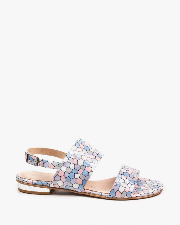 Wielokolorowe sandały damskie skórzane 2299/E24