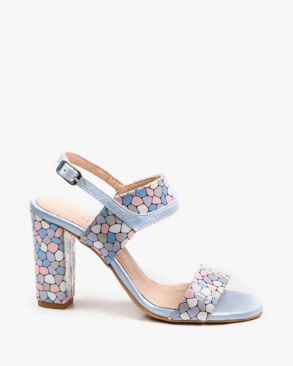 Wielokolorowe sandały damskie skórzane 2290/E24/E51