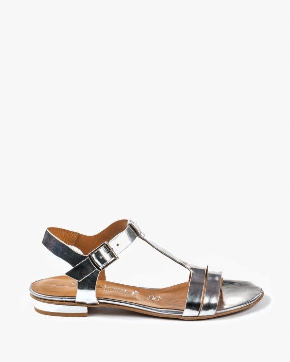 Srebrne sandały damskie skórzane 2000/120