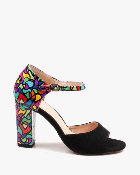 Wielokolorowe sandały damskie skórzane 2295/147/E46