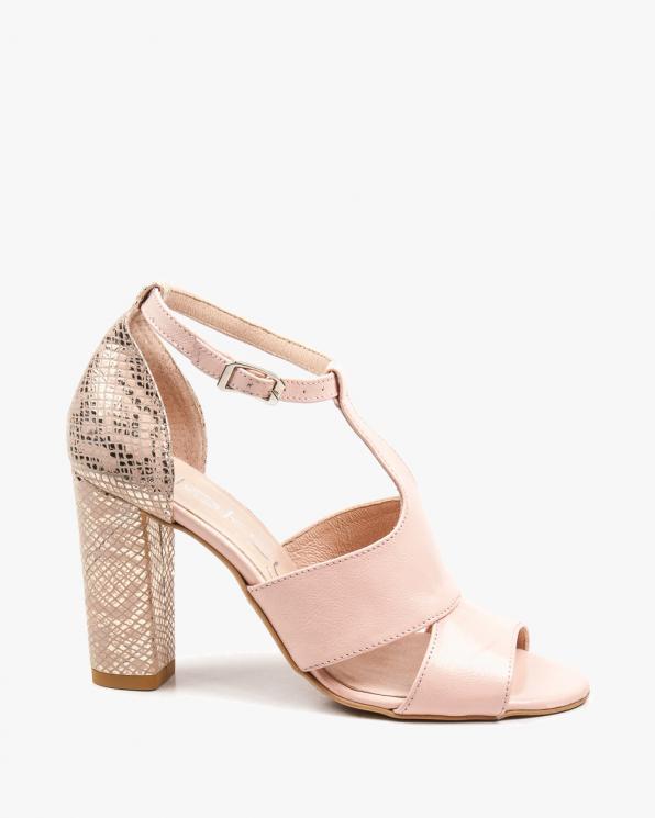 Różowe sandały damskie skórzane  2294/E49/E63