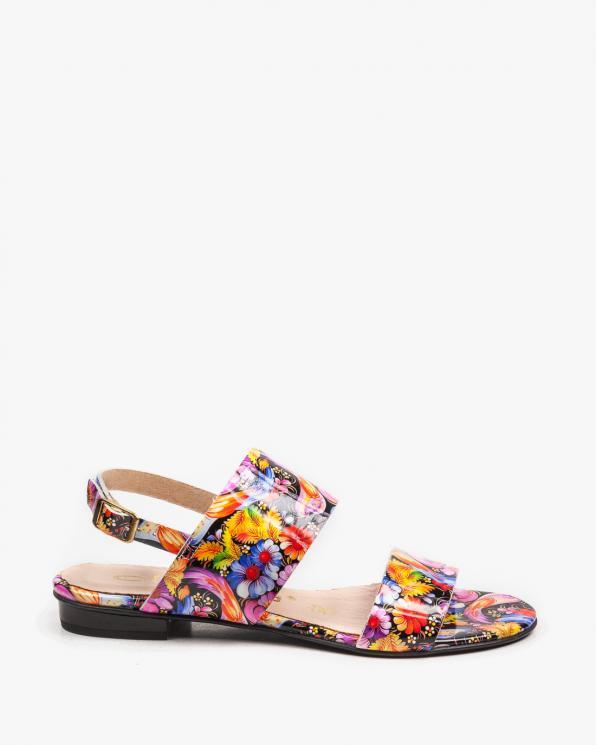 Wielokolorowe sandały damskie skórzane 2299/E21
