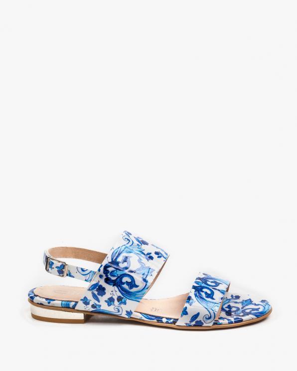 Niebieskie sandały damskie skórzane 2299/E20