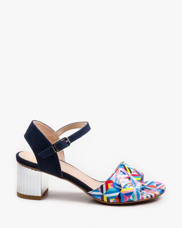 Wielokolorowe sandały damskie skórzane 2736/D87/859