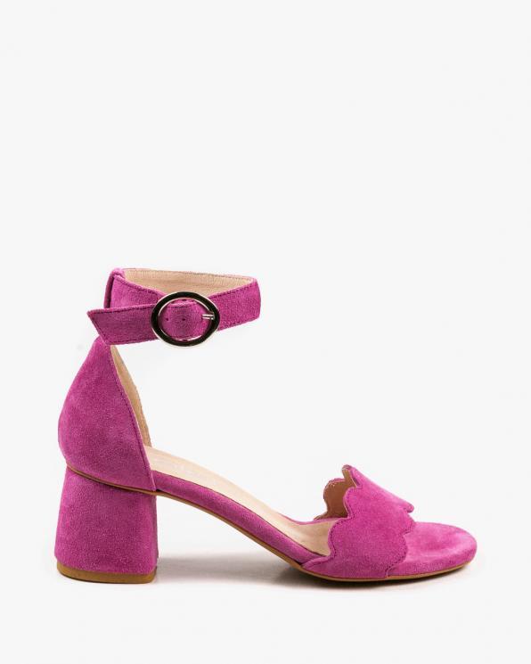 Różowe sandały damskie skórzane 2696/E35