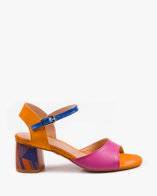 Wielokolorowe sandały damskie skórzane 2711/E33/E34/E32