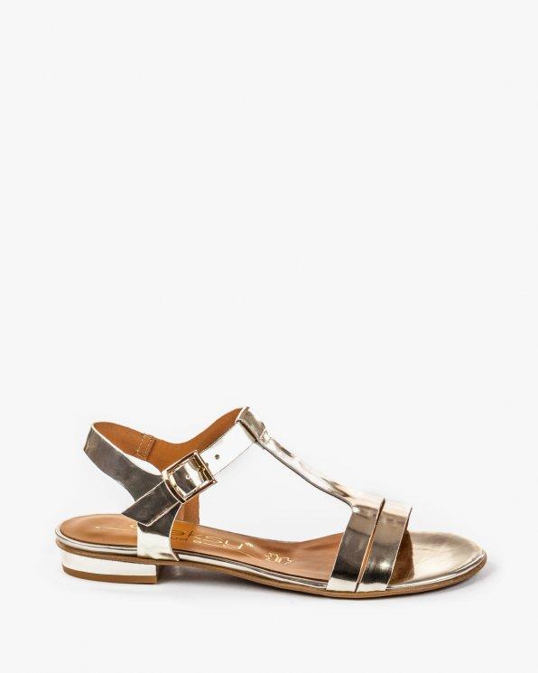 Złote sandały damskie skórzane 2000/A38