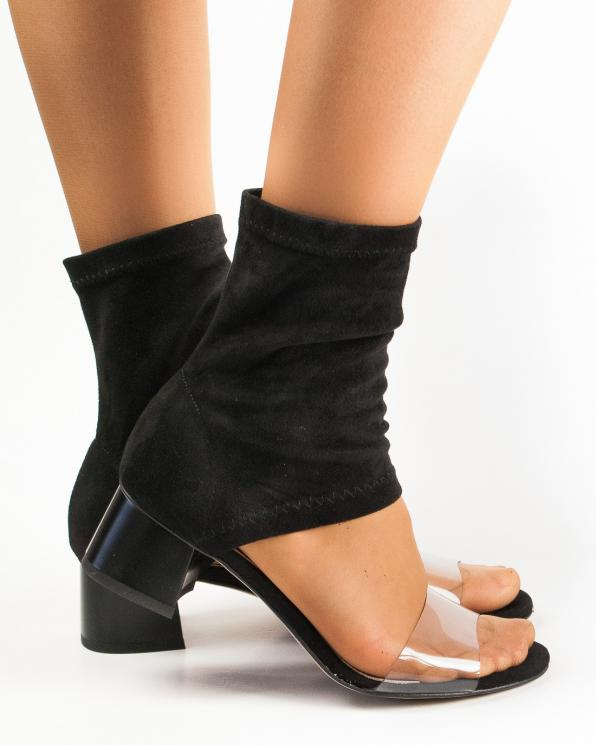 Czarne sandały damskie skórzane letnie 2836/D67/E03