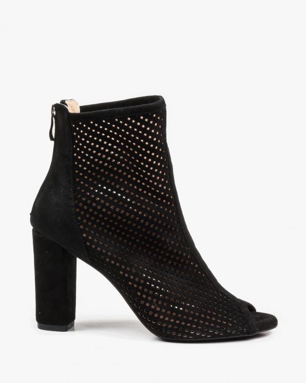Czarne sandały damskie skórzane 2733/147