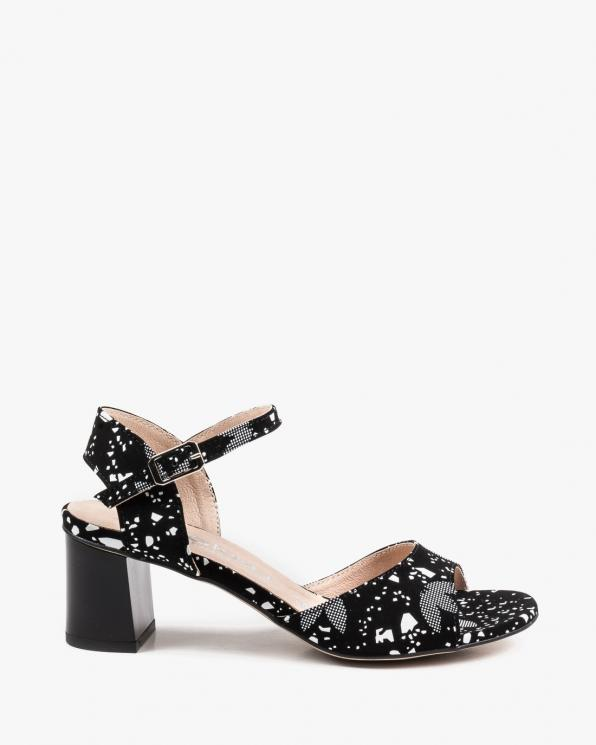 Czarne sandały damskie skórzane 2761/E66