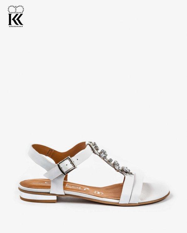Białe sandały damskie skórzane 2316/534