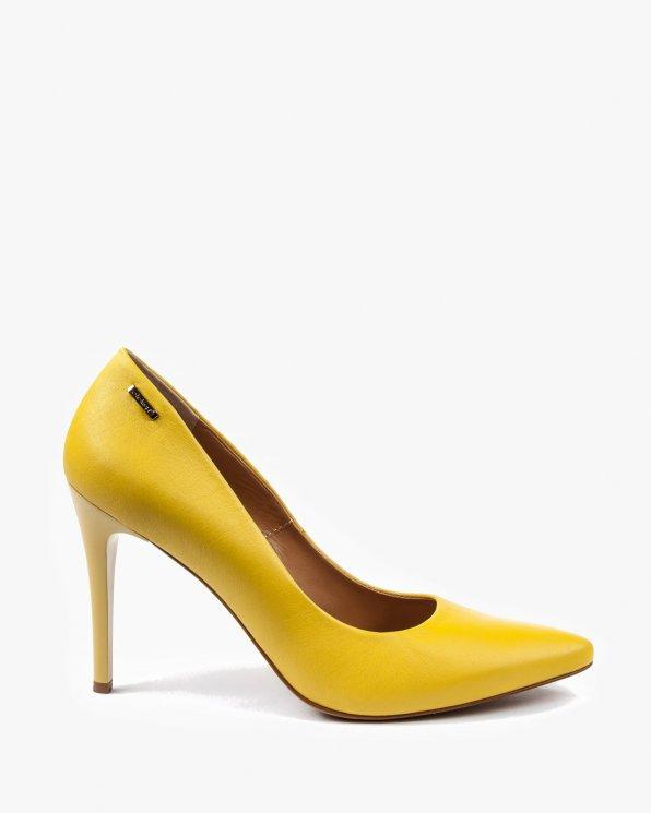Czółenka żółte damskie skórzane 2265/D38