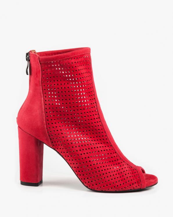 Czerwone sandały damskie skórzane 2733/955