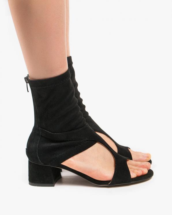 Czarne sandały damskie skórzane 2838/147/E03