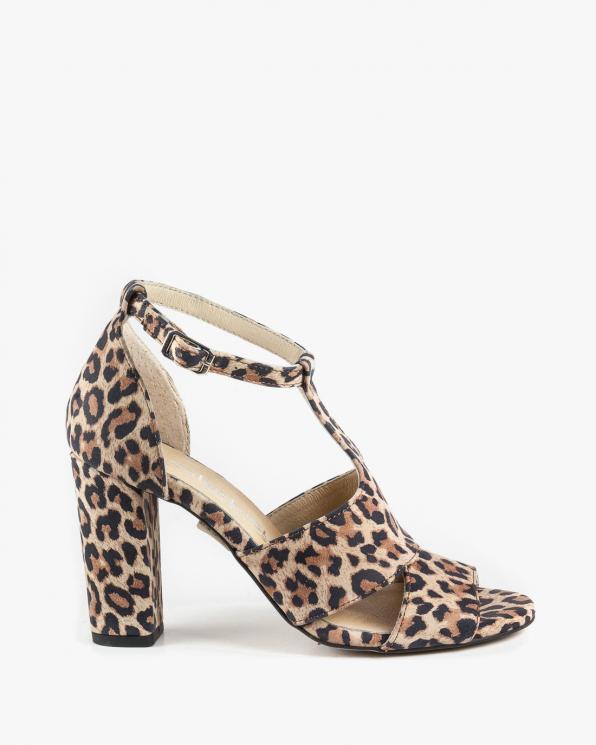 Wielokolorowe sandały damskie skórzane 2294/E47