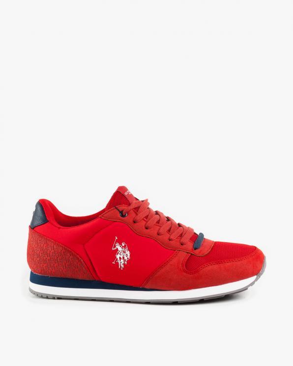 Czerwone półbuty męskie materiałowe USPSOREN/RED
