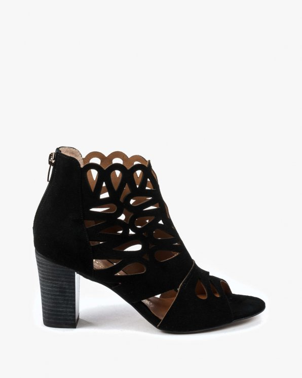 Czarne sandały damskie skórzane 2335/147