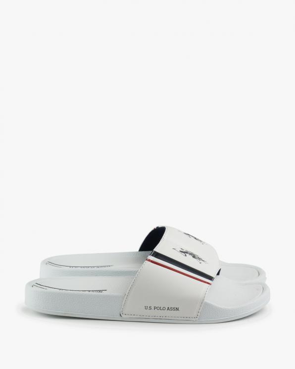 Białe klapki męskie USPC12USPA/WHI-WHITE