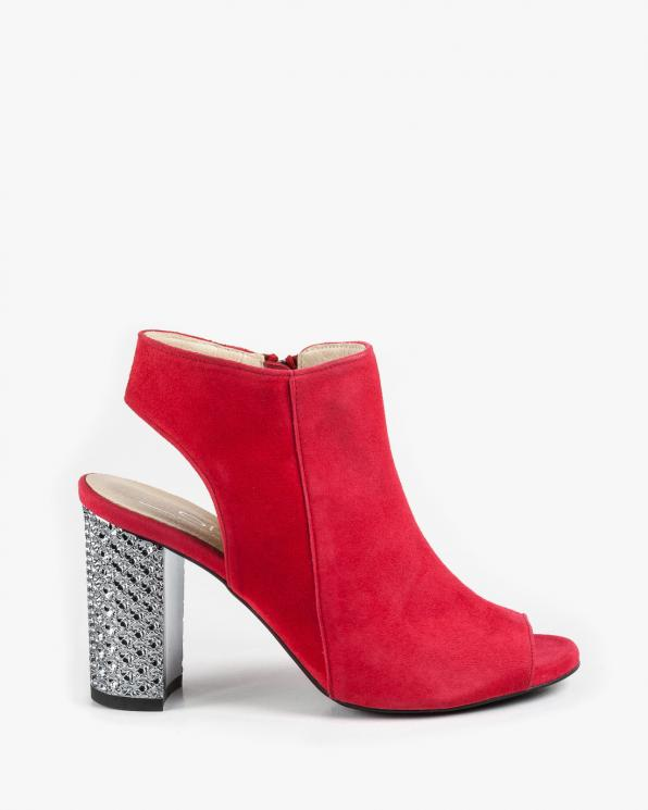 Czerwone sandały damskie skórzane 2699/955