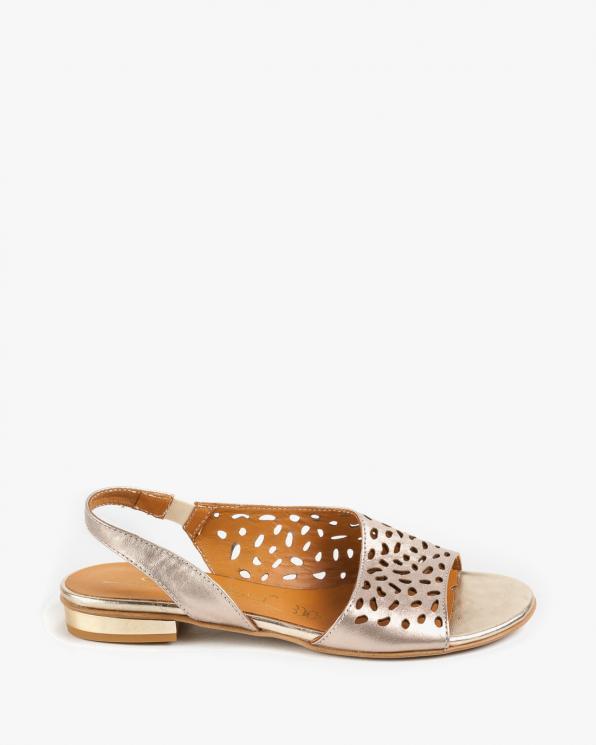 Złote sandały damskie skórzane 2286/C04