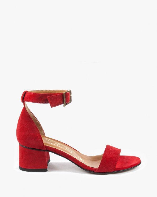 Czerwone sandały damskie skórzane 2148/955