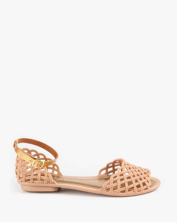 Beżowe sandały damskie KON760000/LINEN