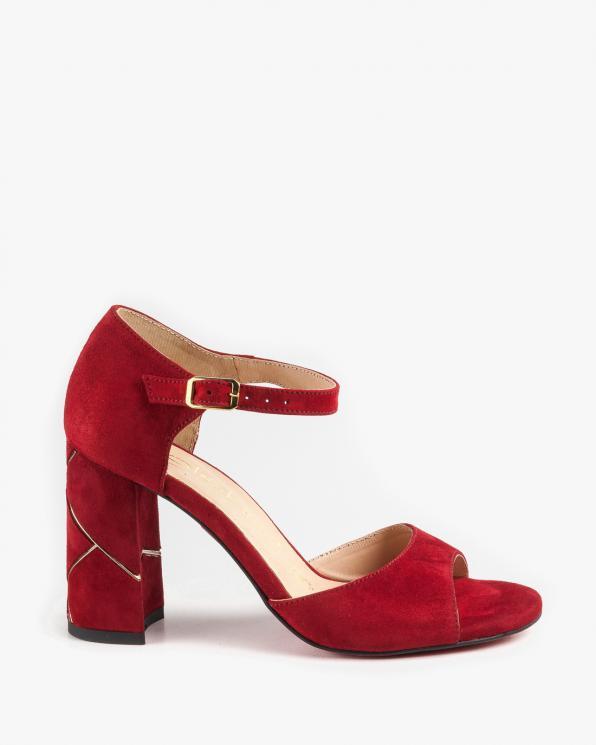 Czerwone sandały damskie skórzane 2822/955/C24
