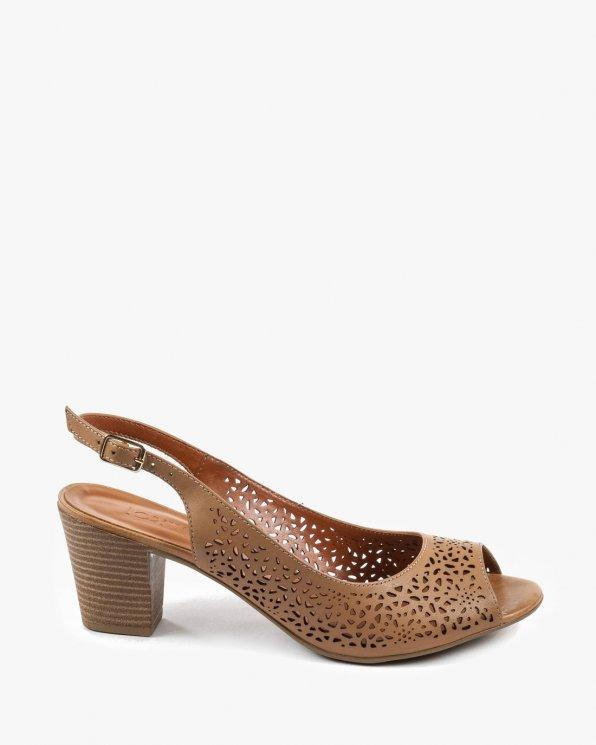 Brązowe sandały damskie skórzane EXI2000-06/ATANADOPINHA