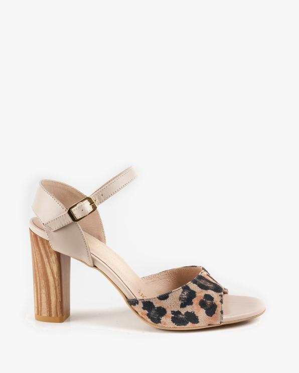 Beżowe sandały skórzane damskie 2763/E47/B19