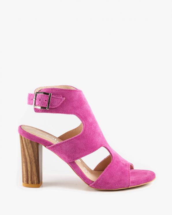 Różowe sandały damskie skórzane 2731/E35