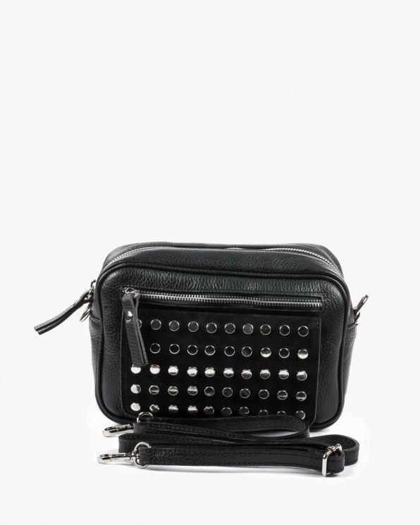 Skórzana torebka damska RBSA158/CZARNY