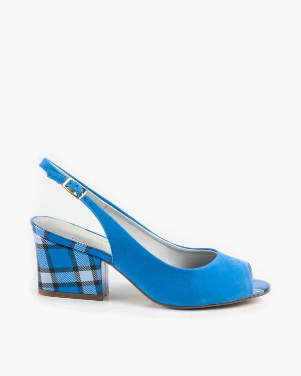 Niebieskie sandały damskie skórzane KON8333-207-512/ROYBLUE