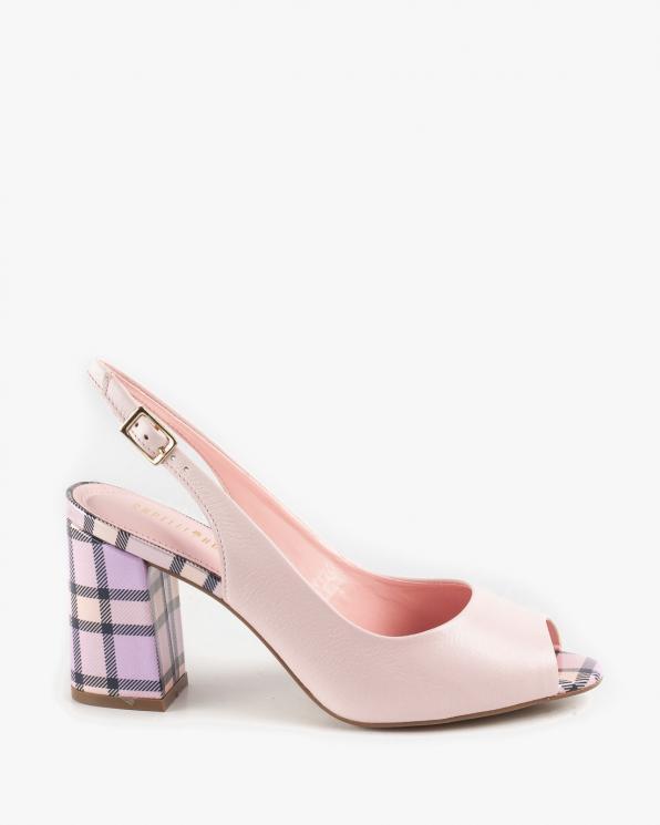 Różowe sandały damskie skórzane KON5554-203-429/ORCHID