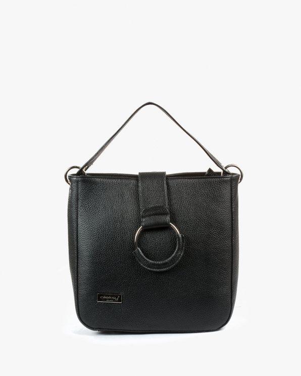 Skórzana torebka damska RBSA182/CZARNY