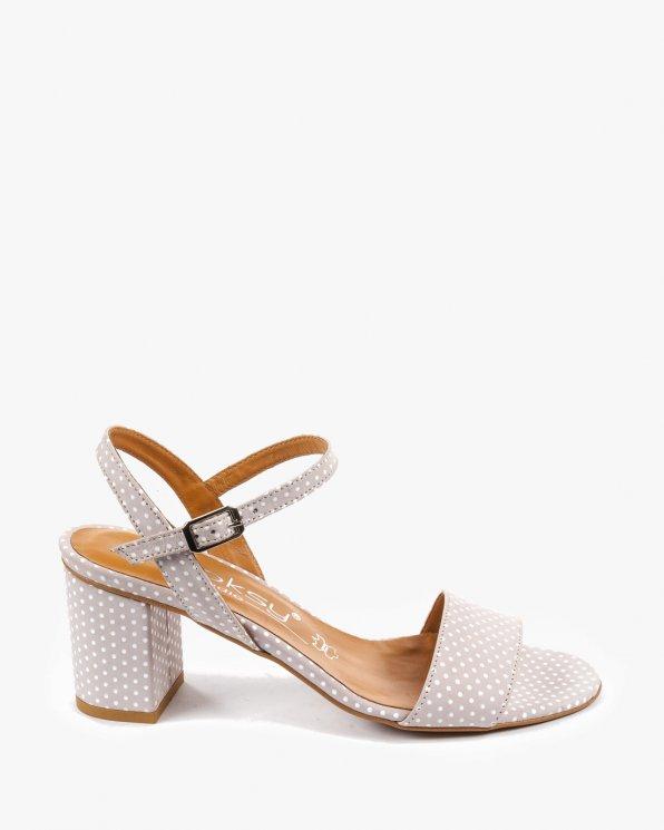 Różowe sandały damskie skórzane 2457/D53