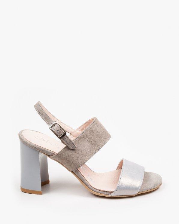 Szare sandały damskie skórzane 2271/C02/952