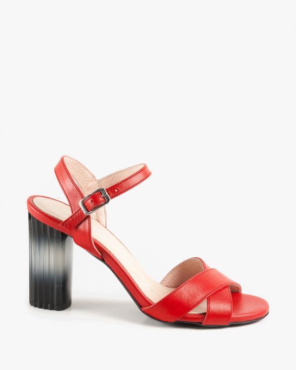 Czerwone sandałki damskie skórzane 2916/200