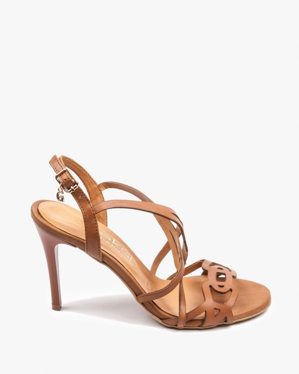 Brązowe sandały damskie skórzane 2399/D54