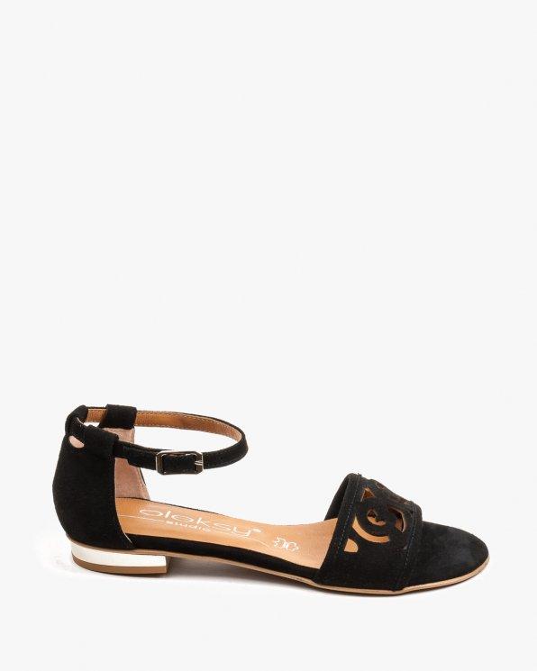 Czarne sandały damskie skórzane 2287/147