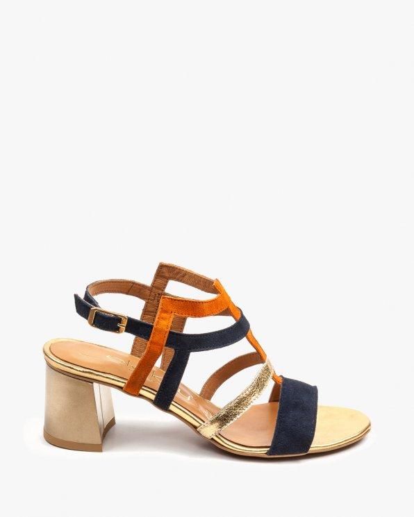 Wielokolorowe sandały damskie skórzane 2289/859/B84/966