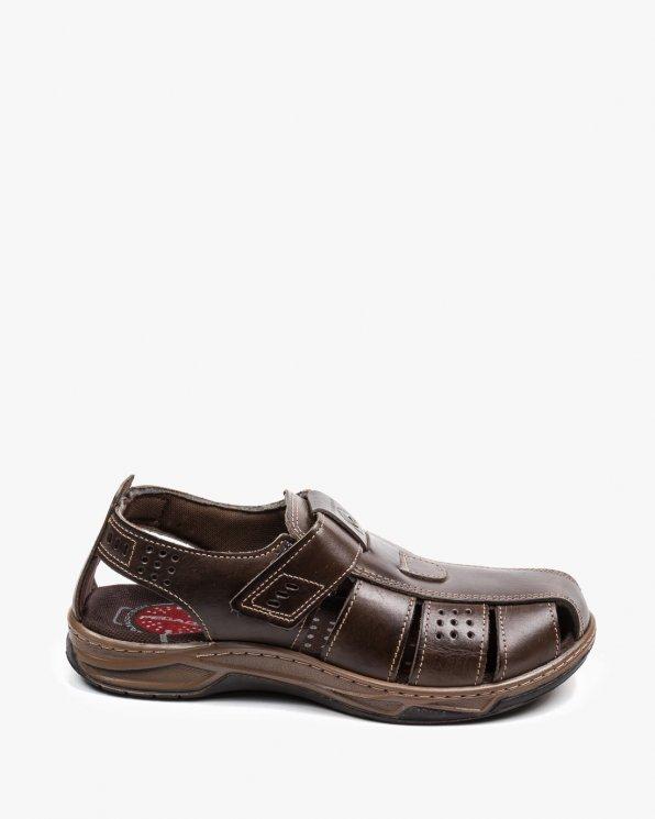 Brązowe sandały męskie EXI132201-03/LCRAVO