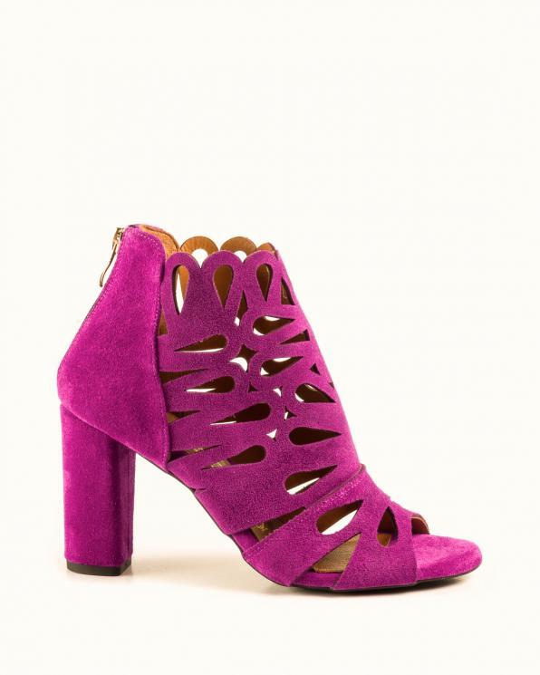 Różowe sandały damskie skórzane 2351/E35